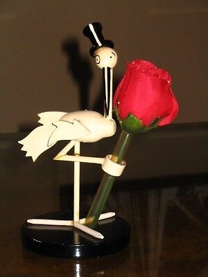 Vintage Stork Club Of New York Figural Bud Vase Holder