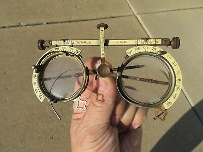 Antique 1895 Optical Optometry Ophthalmology Eye Doctors Exam Glasses Instrument