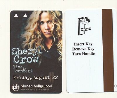 """Sheryl Crow""---PLANET HOLLYWOOD--Pre- Caesars-2010---Las Vegas,NV-Room key"