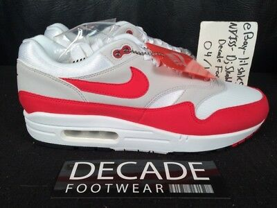 newest 73ab8 5278a Nike Air Max 1 Anniversary White University Red Og Mesh 8-10.5 Day 908375  103