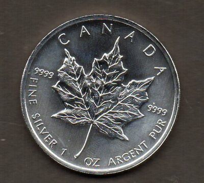 A15 Canada Silver 5 Dollar Coin 2011 1 ounce fine silver  - Maple Leaf