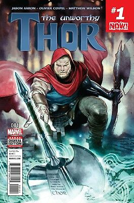 UNWORTHY THOR #1, New, First print, Marvel Comics (2016)