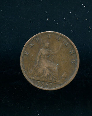1861 Great Britain Farthing VF E49