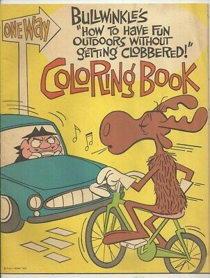 1963 BULLWINKLE & ROCKY Coloring Book GENERAL MILLS CHEERIOS GOLD MEDAL