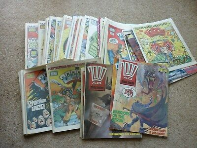 80 x 2000AD COMICS .....VARIOUS DATES & ALL PHOTOS - HOUSE CLEARANCE
