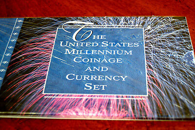 2000 U S MILLENNIUM COINAGE AND CURRENCY SET Mint sealed