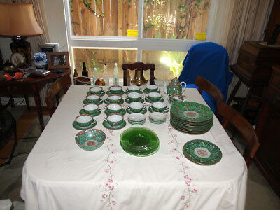 Bok Choy and Butterflies, Antique China Set