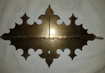 Antique Vintage Brass wall Mountable Pipe Rack Holder