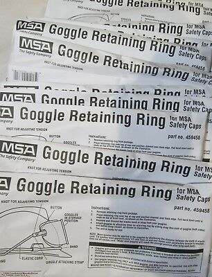 957b37b626df 10-Pack New Msa 459458 Goggle Retaining Rings For Hardhat Caps