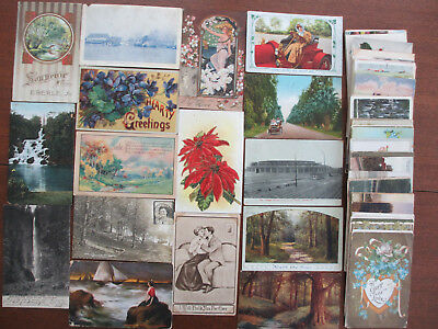 Lot of 60 Vintage Postcards Used Early 1900's #3
