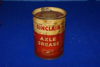 Sinclair Axle Grease 1lb. Tin Can with Grease