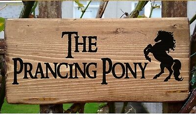 Lord of the Rings The Prancing Pony Hobbit House Plaque Plate Signs Personalised