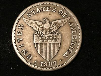 T2: World Coin Philippines 1907 S Peso. Free Shipping & Free Returns