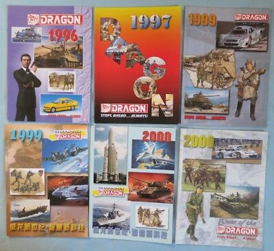 9 lbs. of vintage Plastic Model Kit Catalogs: Dragon, Hasegawa, Revell, and more
