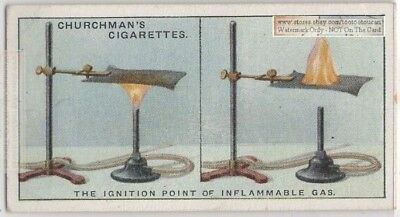 Ignition Point Gas Physics Experiment Flame Science 1920s Trade Ad Card