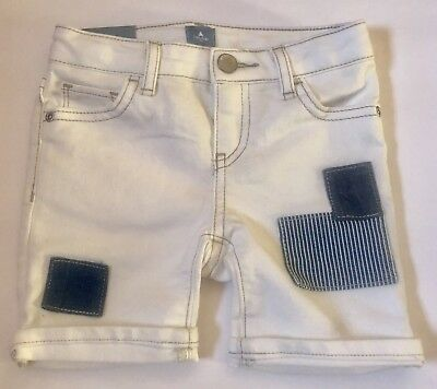 NWT BABY GAP GIRLS  SHORTS denim jeans white patches   u pick size