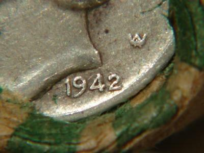 Unsearched Mercury Dime Silver Roll Of 50 Coins with 1942 D/D & BU 1945 Ends