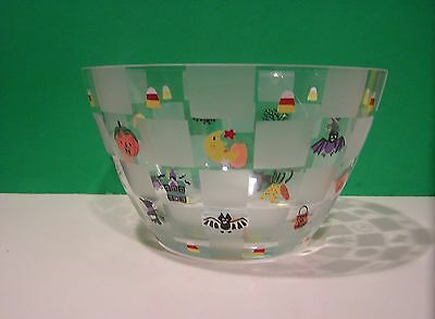 LENOX HALLOWEEN GLASS BOWL NEW in BOX Witch Cat Spider