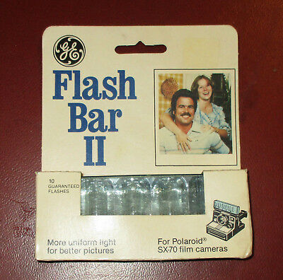 GE FLASH BAR II for POLAROID SX-70 Film Cameras New Unopened Package