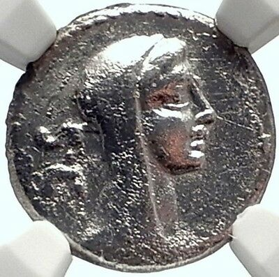 Roman Republic P Sulp GALBA 69BC Authentic Ancient Silver Coin VESTA NGC i68942