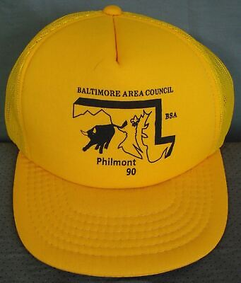 Baltimore Area Council BSA Ball Cap 1990 Philmont Trucker Type