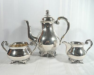 1929 DANISH Sterling Silver Denmark A. Mathiesen TEA SET Mid-Century Modernist