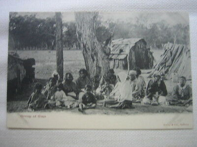 """Aboriginal Postcard by Kerry """"Group of Gins"""" C1905 Un-used Early Australia scarc"""