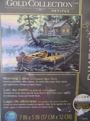 "Cross stitch Kit Gold Collection  "" Morning Lake "" New by Dimensions"