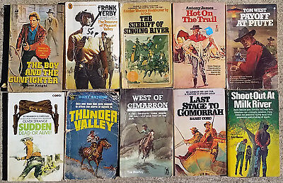 Job lot of 10 x Various Cowboy Western Paperback Books Lot 10