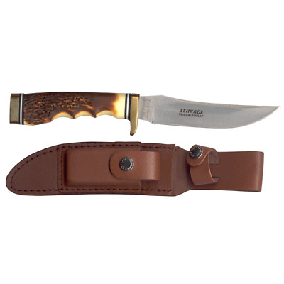 Schrade Taylor - Uncle Hendry Golden Spike Knife - 153UH Fixed Blade : SCH153UH