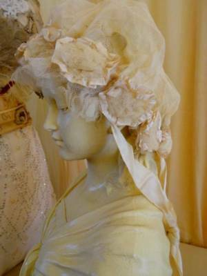 Scrumptious Victorian Laby's Lace Tulle Ribbon Wedding Cap C 1880