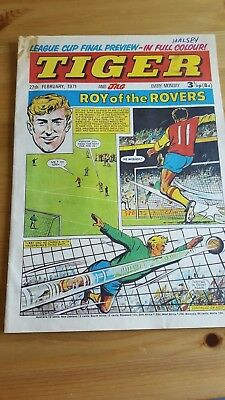Tiger & Jag Comic 27.2. 1971 League Cup Final Preview - Roy of The Rovers