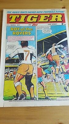 Tiger & Jag Comic 27.3. 1971 Coventry City Spurs V Man United Roy of The Rovers