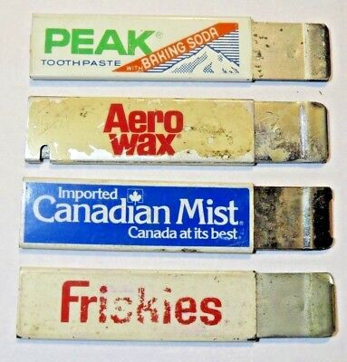 Lot of 4 Vintage Advertising Box Cutter Knives - HANDY CUTTER
