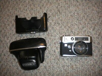 Yashica Lynx 5000E 35mm Rangefinder Film Camera Vintage As Is For Parts Repair
