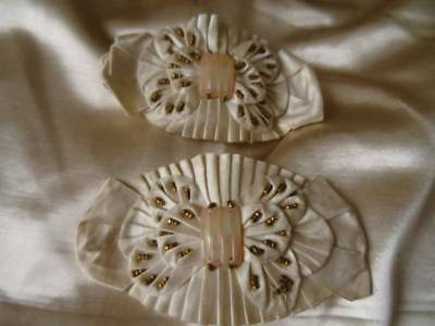 An Exquisite Pair Of Early 19th Century Shoe Rosette/Embellishment