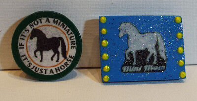 Lot of 2 Miniature Horse Wood Magnets for Mini Horse Lovers