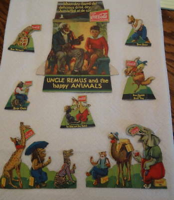 Coca Cola Uncle Remus and the happy animals advertising carboard animals
