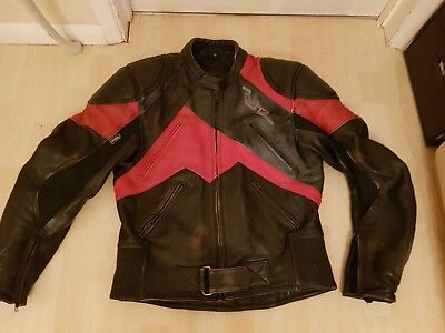 Richa Leather Biker Jacket With  Armour And Thermal Lining 40 Inch