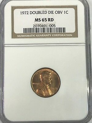 1972 Lincoln Penny Double Die Obv NGC MS65 RD [005]T8