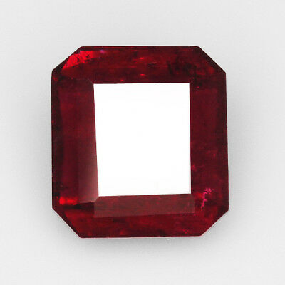 5.3CT 100% Natural Red Rubelite Tourmaline Faceted Cut QDT586