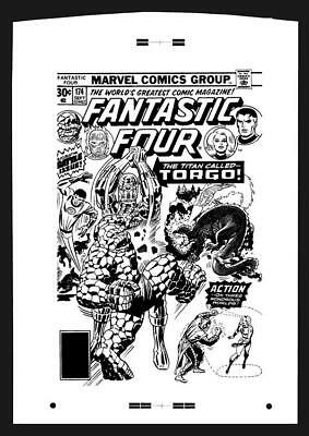 Jack Kirby Fantastic Four #174 Rare Large Production Art Cover
