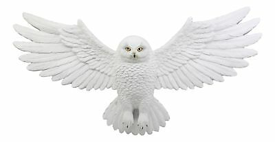 "Kasper The Guardian Snowy Owl With Open Wings Wall Decor Plaque 18.5""L Figurine"