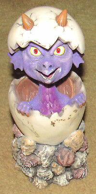 A.A.D.L.P. Adams Apple 2001 Baby Dragon Bobblehead Figurine Hatched Egg