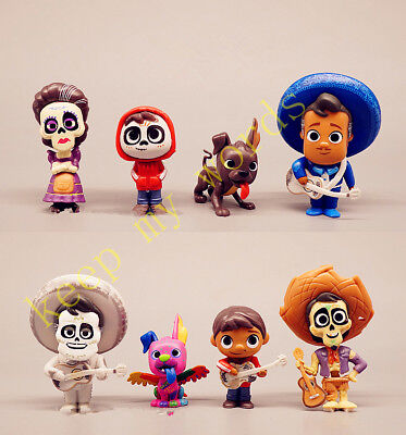 Hot Movie Character Colletion Coco Miguel HECTOR Dante Imelda Pepita Figure 8PCS