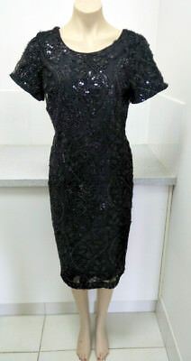 Liz Jordan Sequined Cocktail Dress Size 14 Brand New with Tags