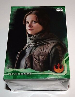 Star Wars Rogue One Series 1 Green Squadron Parallel Set of 90 Cards Jyn Erso