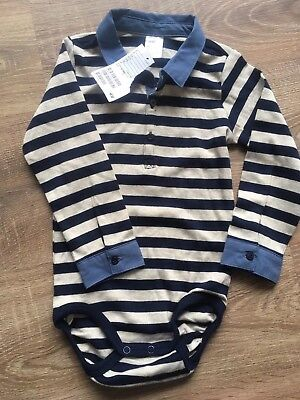 Smart Shirt Vest Collared Long Sleeve Top 12-18 Months Boys Bnwt