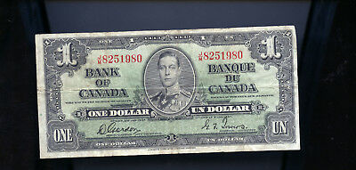 1937 Bank of Canada $1 Gordon Towers BL3664