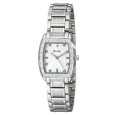 Bulova 96R162 Highbridge Women's Diamond Silver Dial Watch